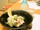 【アボカドと蟹のマヨネーズ和え】<br>アボカドがマイルド。蟹の甘さも加わった、サラダ感覚の一品。